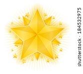 golden stars on white background | Shutterstock . vector #184532975