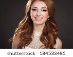 beauty woman portrait with...   Shutterstock . vector #184533485
