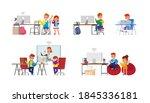 set of distance learning online ...   Shutterstock .eps vector #1845336181