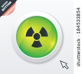 radiation sign icon. danger...