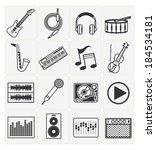 music icons set   Shutterstock .eps vector #184534181