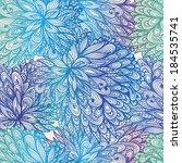 seamless floral vintage blue... | Shutterstock . vector #184535741