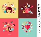 set of flat design concept... | Shutterstock .eps vector #184537229