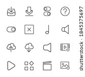 general line icons set. stroke...