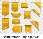 golden ribbons and banners ... | Shutterstock .eps vector #1845381934