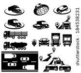 vector set  transport   Shutterstock .eps vector #184538231