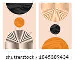 abstract contemporary aesthetic ... | Shutterstock .eps vector #1845389434