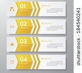 design clean number banners... | Shutterstock .eps vector #184540241