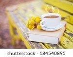 Love And Tea. Heart Silhouette...
