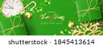 merry christmas and happy new... | Shutterstock .eps vector #1845413614