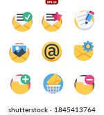 email set icons stock vector...