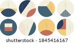 geometric template with ... | Shutterstock .eps vector #1845416167
