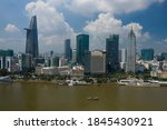 Ho Chi Minh City, Vietnam Skyline and Saigon River waterfront on a sunny day. The City is looking good