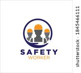 safety worker logo designs for... | Shutterstock .eps vector #1845466111