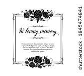 Funeral Vector Card  Retro...