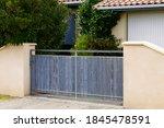 Door Wooden Natural Gate Of...