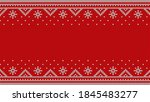 nordic red jumper knitwear... | Shutterstock .eps vector #1845483277