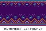 christmas sweater knit seamless ... | Shutterstock .eps vector #1845483424