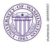 university of washington logo ...   Shutterstock .eps vector #1845495457
