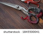 Rusty Old Iron Scissors  Handle ...