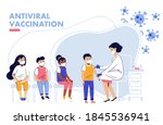 children vaccination concept... | Shutterstock .eps vector #1845536941