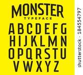 vector tech font. sharp...   Shutterstock .eps vector #184554797