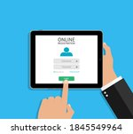 online registration of account...   Shutterstock .eps vector #1845549964