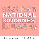 national cuisines word concepts ...