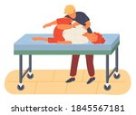 pregnancy preparing  wife and... | Shutterstock .eps vector #1845567181