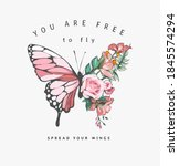 free to fly slogan with... | Shutterstock .eps vector #1845574294