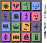 vacation and travel flat icons... | Shutterstock .eps vector #184558661