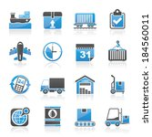 logistic and shipping icons  ...   Shutterstock .eps vector #184560011
