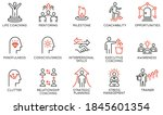 vector set of linear icons... | Shutterstock .eps vector #1845601354