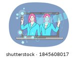 business  assistance ... | Shutterstock .eps vector #1845608017