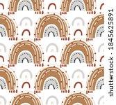 bohemianl rainbow hand drawn...   Shutterstock .eps vector #1845625891