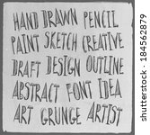 hand drawn sketch words. vector ... | Shutterstock .eps vector #184562879
