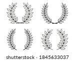laurel wreath outline set with... | Shutterstock .eps vector #1845633037