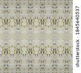 Yellow Boho Pattern. Gray...