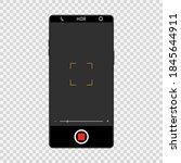 camera screen interface on... | Shutterstock .eps vector #1845644911