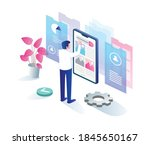 the concept of flat isometric...   Shutterstock .eps vector #1845650167
