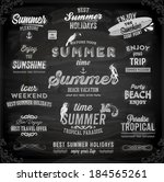 retro elements for summer... | Shutterstock .eps vector #184565261