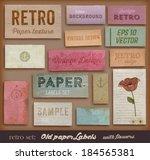 scrapbooking set. old paper... | Shutterstock .eps vector #184565381