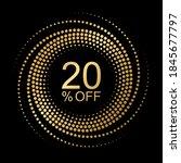 20  off  vector graphic element ... | Shutterstock .eps vector #1845677797