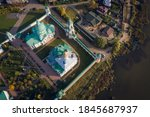 Aerial Top Down View Of A...