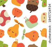 Autumn Seamless Pattern  Cute...