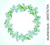 vector floral spring background ... | Shutterstock .eps vector #184576754