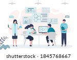 group of scientists conducting... | Shutterstock .eps vector #1845768667