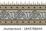 seamless vector tribal border... | Shutterstock .eps vector #1845788644