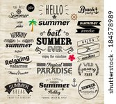 vintage typography summer... | Shutterstock .eps vector #184578989