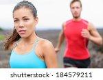 woman runner closeup   running... | Shutterstock . vector #184579211